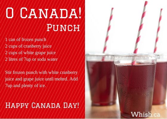 O Canada Day Punch! | Whish.ca