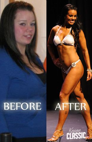 Before and After #fitness competition