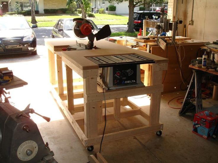 Backyard Workshop - Ultimate Workbench <What I want to build for my portable table saw and miter saw>