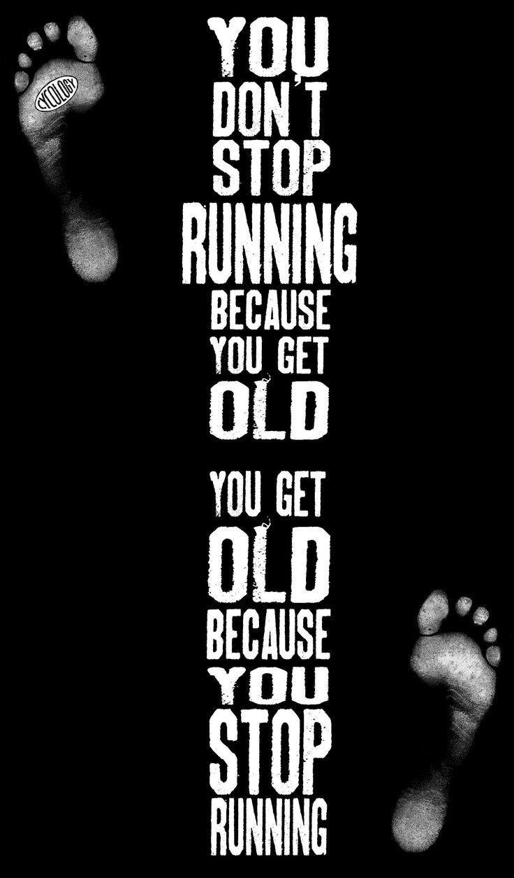 I don't ever want to get old or stop running, cycling, swimming, bush walking....and am constanlty inspired when I see much older people doing the sports I love.