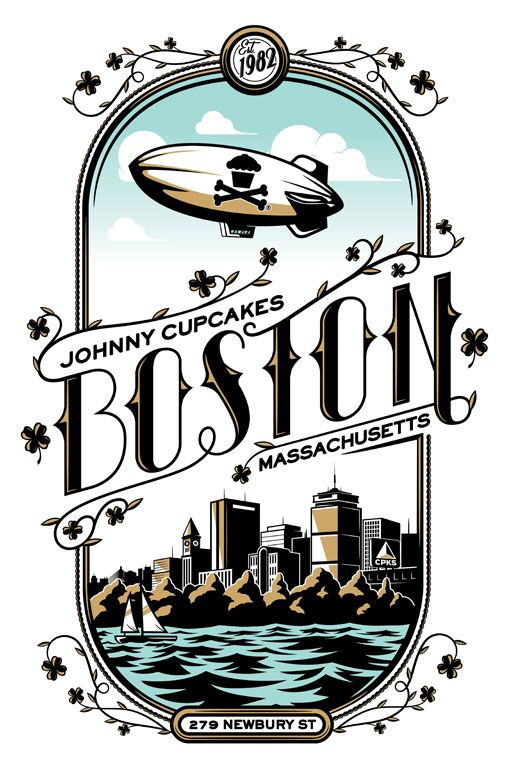 <3 Love this ode to Boston with Johnny Cupcakes. (from the south shore people! represent)
