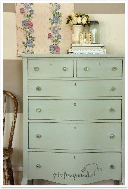 Q Is For Quandie Fusion Mineral Paint Vintage Dresser