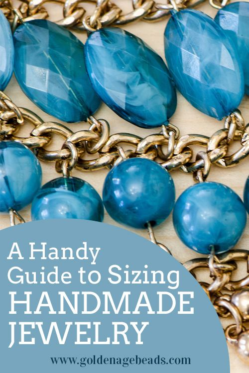 A Guide to Sizing Your Handmade Jewelry - standard sizes for necklaces, bracelets and rings included here!
