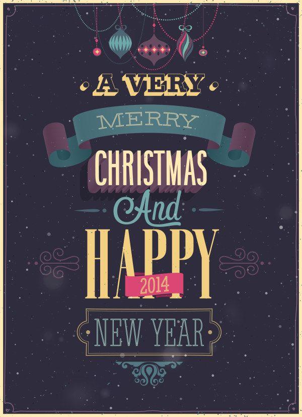 圣诞节快乐矢量海报素材-潮流-矢量