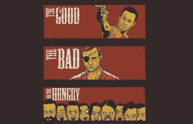 The Good The Bad The Hungry T-Shirt Get yours here: http://tshirtonomy.com/go/good-bad-hungry