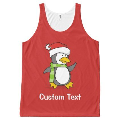 Christmas penguin walking on snow All-Over-Print tank top - Xmas ChristmasEve Christmas Eve Christmas merry xmas family kids gifts holidays Santa