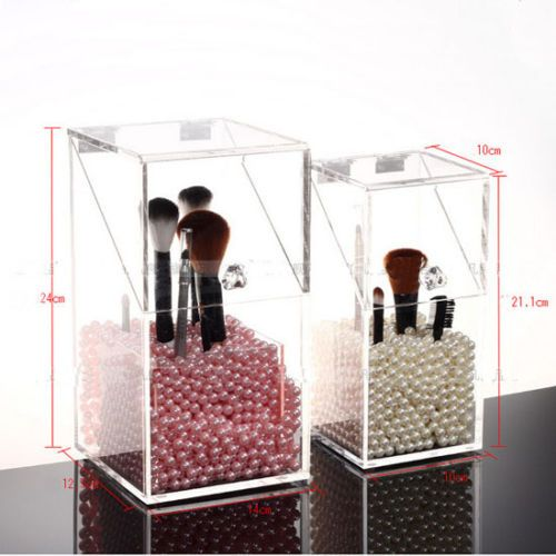 New-Acrylic-Cosmetic-Makeup-Brush-Organizer-Display-Stand-Case