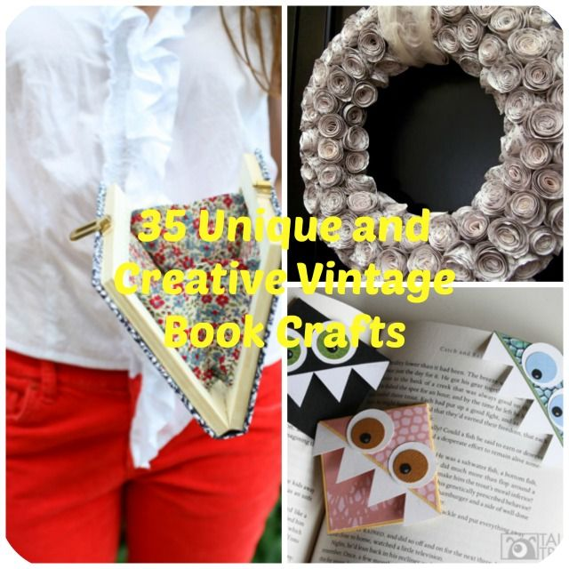 old book craft ideas 35 unique diy project ideas to repurpose books diy 5044
