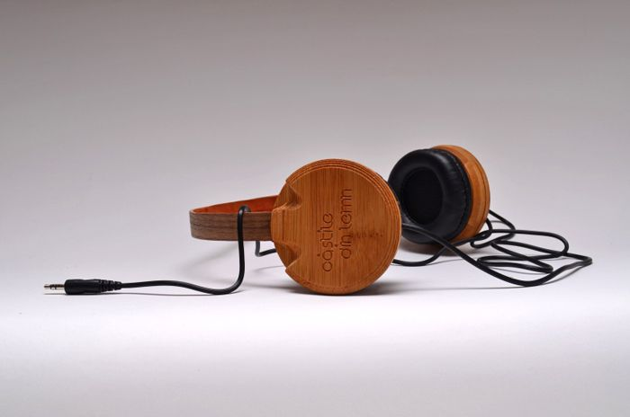 The Wooden Headphones by Prototip Studio