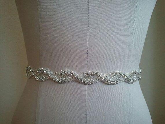 Wedding Belt, Bridal Belt, Bridesmaid Belt, Bridesmaid Belt, Crystal Rhinestone - Style B1108
