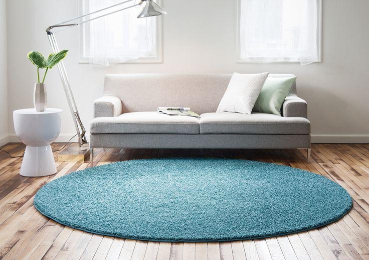 この「ふかふか」感のラグカーペット可愛らしさを演出!画像は140×200cm(楕円)タイプ