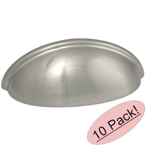 "Cosmas 783SN Satin Nickel Cabinet Hardware Bin Cup Drawer Handle Pull - 3"" Hole Centers - 10 Pack Cosmas"