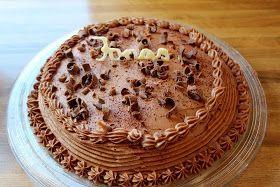 Sjokoladekake med lys smørkrem