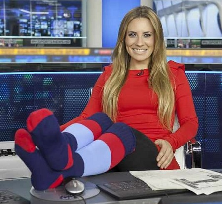Sky Sport presenter Georgie Thompson, sock wearer and the new face of F1 in the UK @OfficiallyGT