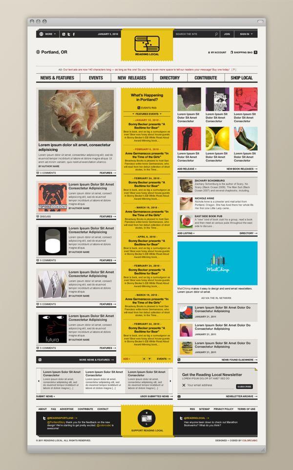 Reading Local / Colorcubic #grafica #web