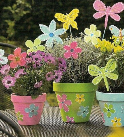 bloempotten versieren