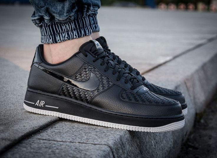 Nike Air Force 1 '07 LV8 Black Trainer 718152 010 RARE UK 10 EUR 45