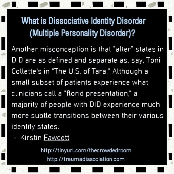 multiple personality disorder in the movie identity essay Multiple interpretations and in no way refute an interpretation of  although  dissociative identity disorder (did) is a recognized  talk shows, movies, and so  on  in their thought-provoking essay on did, lilienfeld et al.