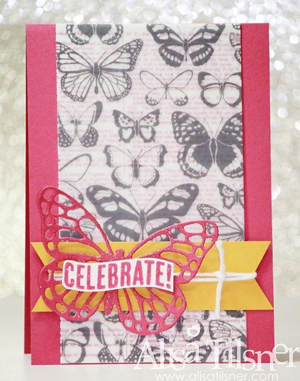 Alisa Tilsner | The Artful Stampers Blog Hop Challenge 24 | Butterflies Thinlits Die | Sheer Perfection Vellum | Stampin Up Australia