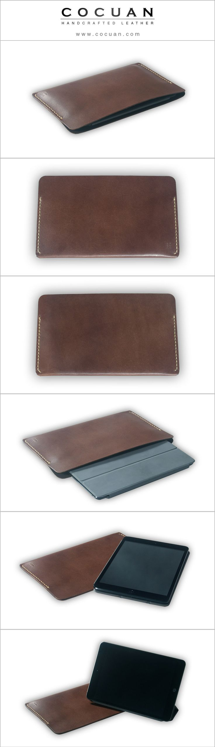 iPad case www. cocuan.com #leather #handmade #handcraftleather #leathercase…