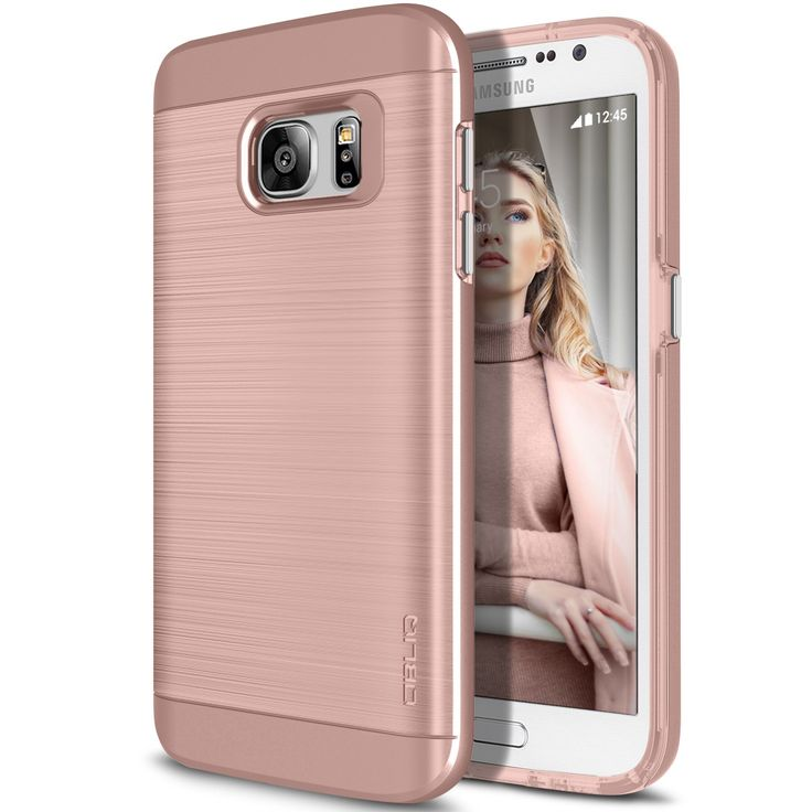 Obliq Slim Meta Samsung Galaxy S7 Case - Rose Gold
