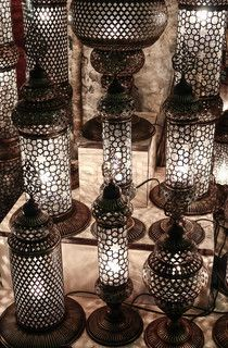 Turkish lamps, Istanbul, Turkey