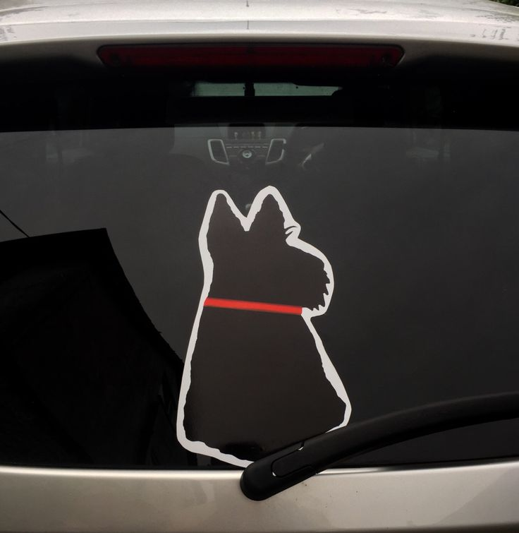 A personal favourite from my Etsy shop https://www.etsy.com/uk/listing/456370040/scottie-dog-decal-sticker-for-vehicle