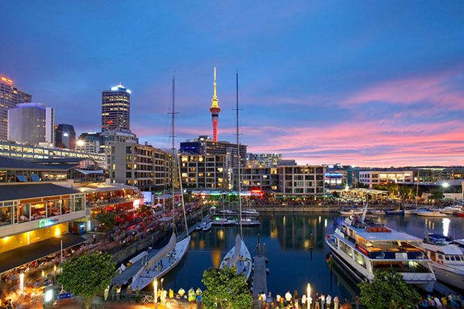 Auckland, North Island New Zealand The city is nestled between the Waitemata & Manukau Harbours meaning Aucklanders are never more than 30 minutes drive from the coast making it an aquatic playground aptly hailed as 'The City of Sails'.