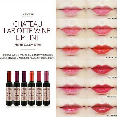 Chateau Labiotte Style Wine Lip Tint 6 pcs + Free Shipping