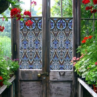 Blue Flutterby Window Film
