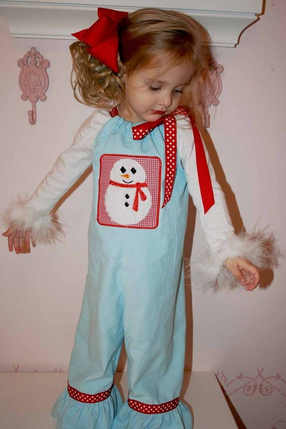 sewing idea-snowman christmas romper