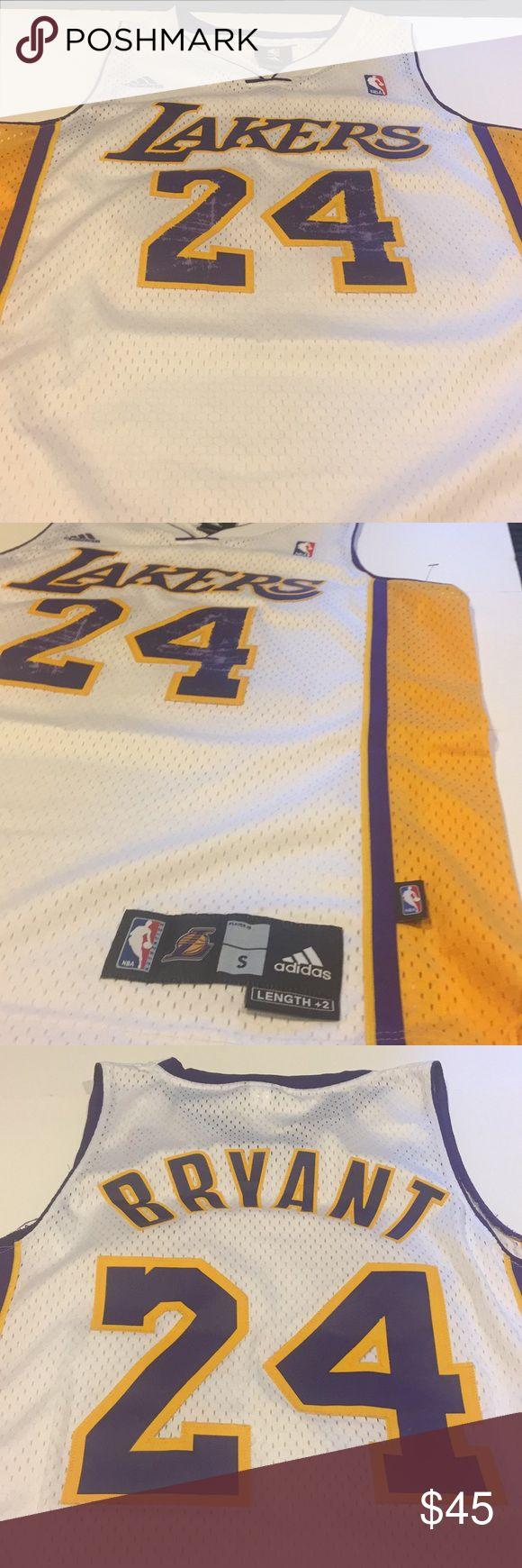 Men's Adidas NBA Kobe Bryant Sleeveless Mesh Kobe Bryant #24 adidas NBA Authentic's Sleeveless Mesh Jersey top.  Tag reads Size Small Length +2 Addidas NBA Authentics Shirts Tank Tops