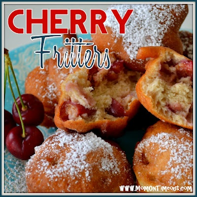 Fresh Cherry Fritters {Recipe}Fresh Cherries, Fritters Recipe, Heavens Treats, Sweets Treats, Food Sweets, Breakfast, Cherries Fritters, Fruit Recipe, Mom