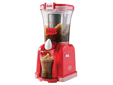 Have the summertime blues already kicked in? You just need a good drink. The Nostalgia Electrics Coca-Cola Slush Machine is your gateway to unlimited DIY refreshment. Just load it up with your favorite beverages, crushed ice and table salt to create the perfect slushie every time!
