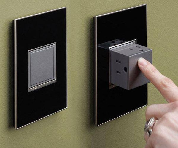 Pop-out Outlet Hides The Holes When You Don't Need Them