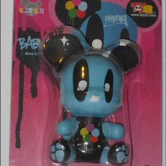 """Toy2r baby qee RARE kidrobot vinyl toy Toy2R Joet Nasty Album Comics Baby Qee Bear """"Blue Eyes""""  This listing cannot be bundled unless with another listing with this disclaimer Other"""