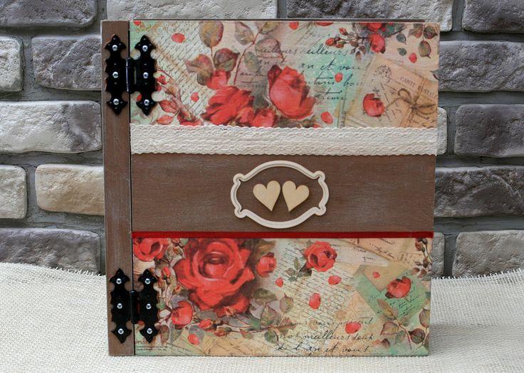 Album do zdjęć drewniany duży ślubny - glowapelnapomyslow - Albumy ślubne