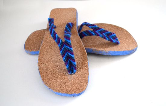How to Make Flip Flops from Scratch - Dream a Little Bigger - I like the idea of friendship bracelet straps, since I can never find flipflops that have straps that fit my feet