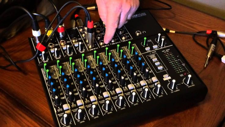 How to set up & use a Mackie 1202-VLZ4 Mixer for Podcasting