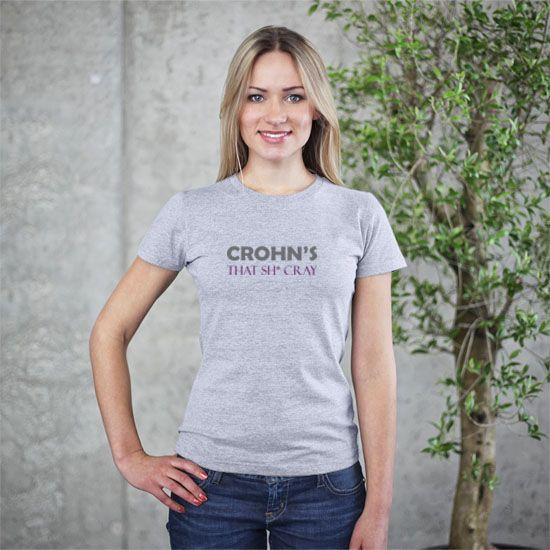 Everyone loves a cool T-shirt. And it is a bonus to get a soft, comfy t-shirt that also supports the mission of a very worthy cause. Help raise awareness for Crohn's disease with this 100% fine jersey cotton t-shirt. A portion of the proceeds from each shirt will be donated to the Crohn's & Colit...