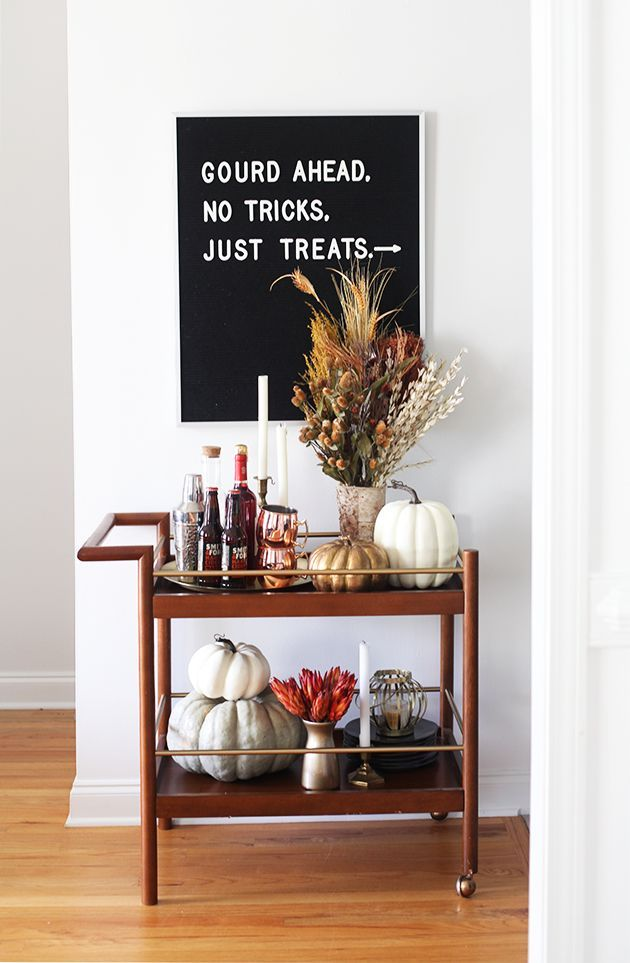 No tricks, just treats bar cart Pinterest Bar carts, Bar and - halloween club decorations