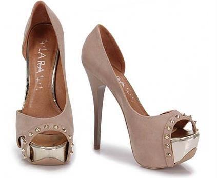 Sapatos femininos Peep Toe