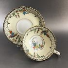 Antique Paragon On Vellum Art Deco Birds China Tea Cup Saucer England Teacup