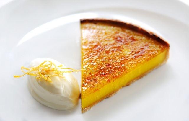 Glazed Lemon Tart With Crème Fraiche by Robert Thompson