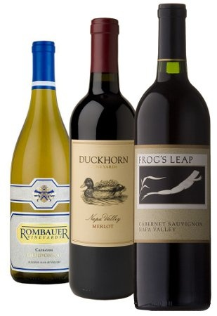 This outstanding collection confirms Napa Valley's stellar reputation for exceptional wines. A bottle each of Rombauer Chardonnay, Duckhorn Merlot and Frog's Leap Cabernet Sauvignon represent the landmark varietals that have made Napa so well-known. Included with this gift are passes for a tasting at each winery for four guests  http://www.winerywebsites.biz/wines-here/california-wines