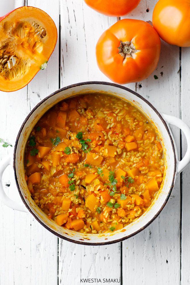 Zapiekana ryżowa z dynią i mielonym mięsem