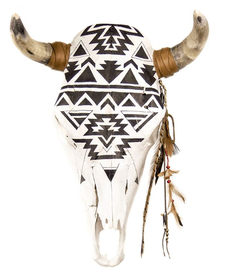 Black and white hand painted in ode to the Navajo Ganado geometric patterns…