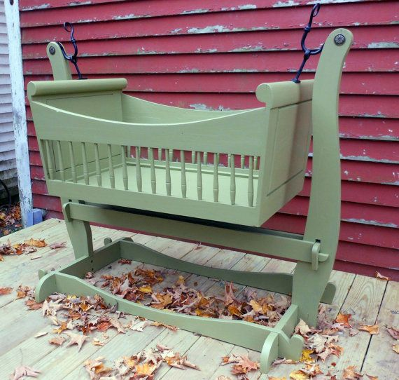 Swinging Sleigh Baby Cradle Traditional by SurrenderDorothy, $1289.00 not crazy about $ but love the look