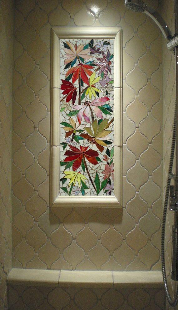 Stained glass tile tile design ideas for Unique mosaic tile