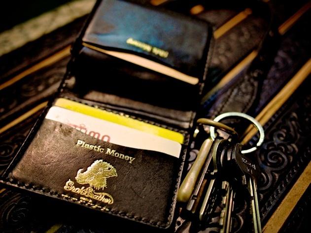 Grok Leather Black Wallet